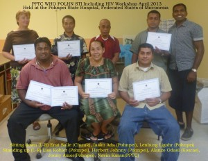 Pohnpei STI group photo certificate