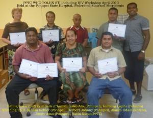 Pohnpei STI group photo certificate
