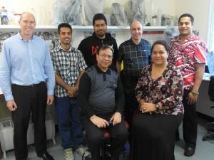 Back L-R: Russell-PPTC, Bernard-Kiribati, Felix-Tuvalu, Ratan-Sydney Visiting Lecture, Pinati-Samoa. Front L-R: Rodney-Sydney Visiting Lecture, Seni-Tonga