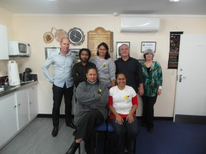 Wellington Centre Based Training Course  Back L-R - Russell-PPTC, Niam-PNG, Nerisa-American Samoa, Phil-PPTC, Linda-PPTC. Front L-R - June-Cook Islands, Bridgit-PNG.